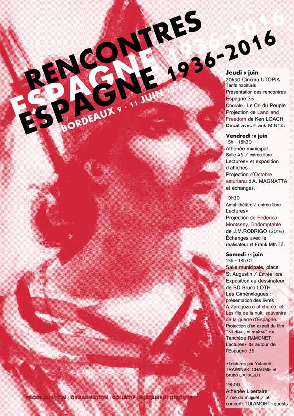 Rencontres ESPAGNE 1936-2016