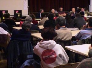 procès BDS à Bordeaux décembre 2005 - meeting de soutien avec Maurice Rajsfus