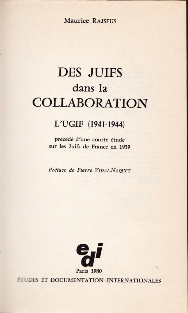 Des juifs dans la collaboration